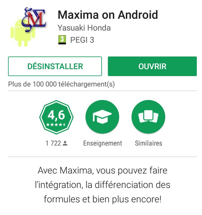 Maxima sur smartphone
